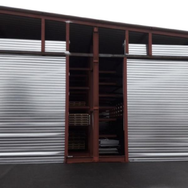 volet métallique lames anti arrachement   pour chantier industriel